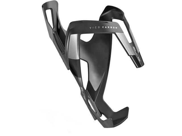 Elite Vico Flaschenhalter Carbon schwarz matt/schwarze Grafik